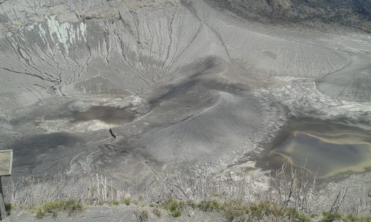 Turrialba - les lacs cratériques sont réduits au stade de mare boueuse - photo Guillaume Alvarado (RSN : Ncu-Ice)
