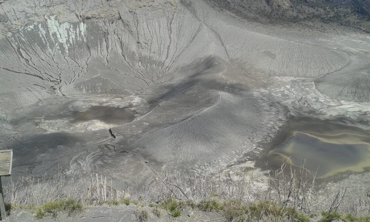 Turrialba - the crateric lakes are reduced to the muddy pool stage - photo Guillaume Alvarado (RSN: Ncu-Ice)