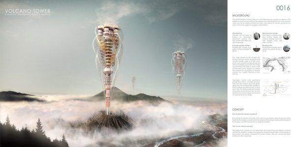Architectural delusions on volcanoes