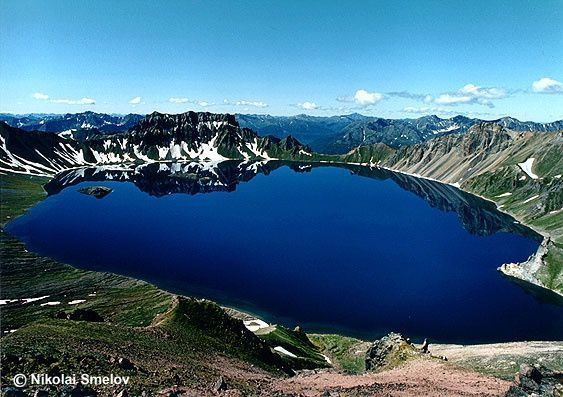 The crater lake of Khangar - picture N.Smelov / KVERT