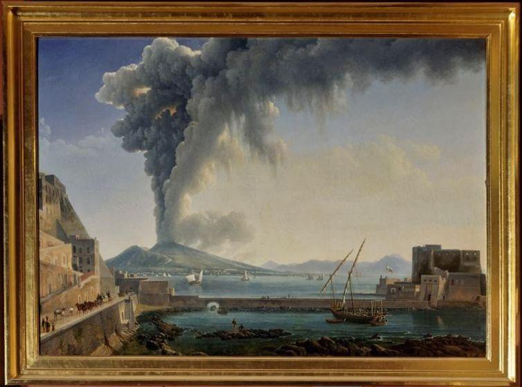 Eruption du Vésuve en 1813 de Dunouy Alexandre-Hyacinthe - photo Muzéo