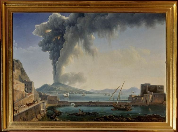 Eruption of Vesuvius in 1813 by Dunouy Alexandre-Hyacinthe - photo Muzéo