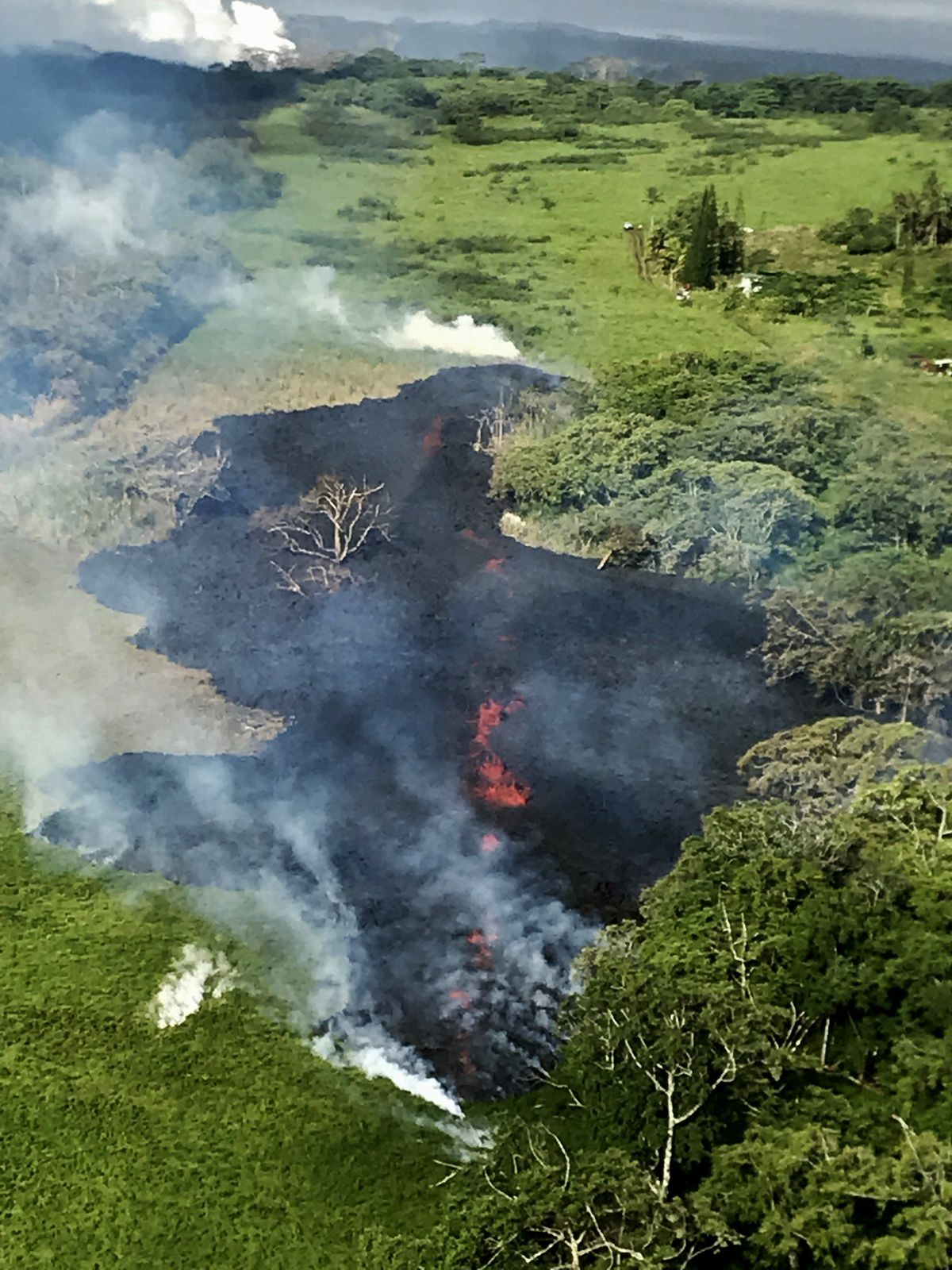 Kilauea - East rift zone: fissure # 17 at 8am local 13.05.2018 - photo HVO - USGS