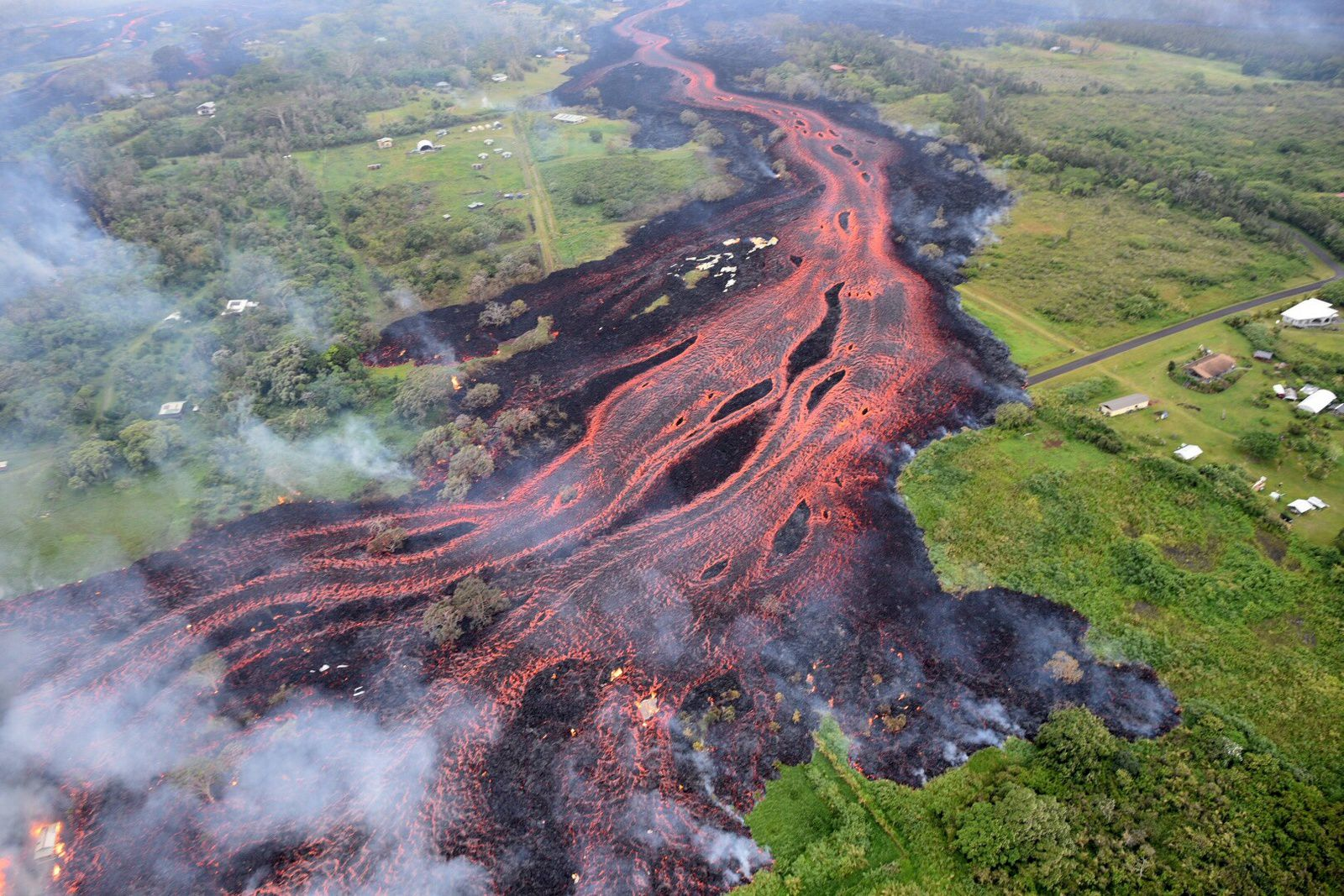 Kilauea zone de rift Est 19.05.2018 / 8h18 HST.- photo HVO