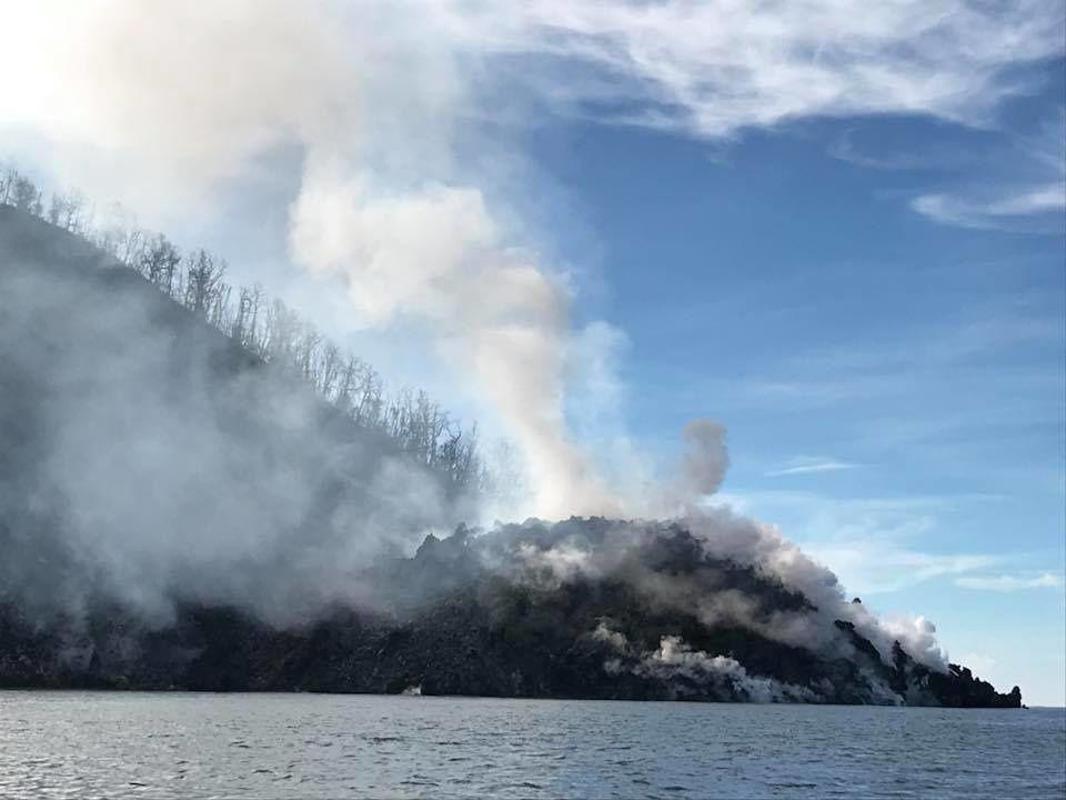 Kadovar volcano island and its costal dome - photo Tico Liu / Facebook / 19.05.2018, via Shérine France