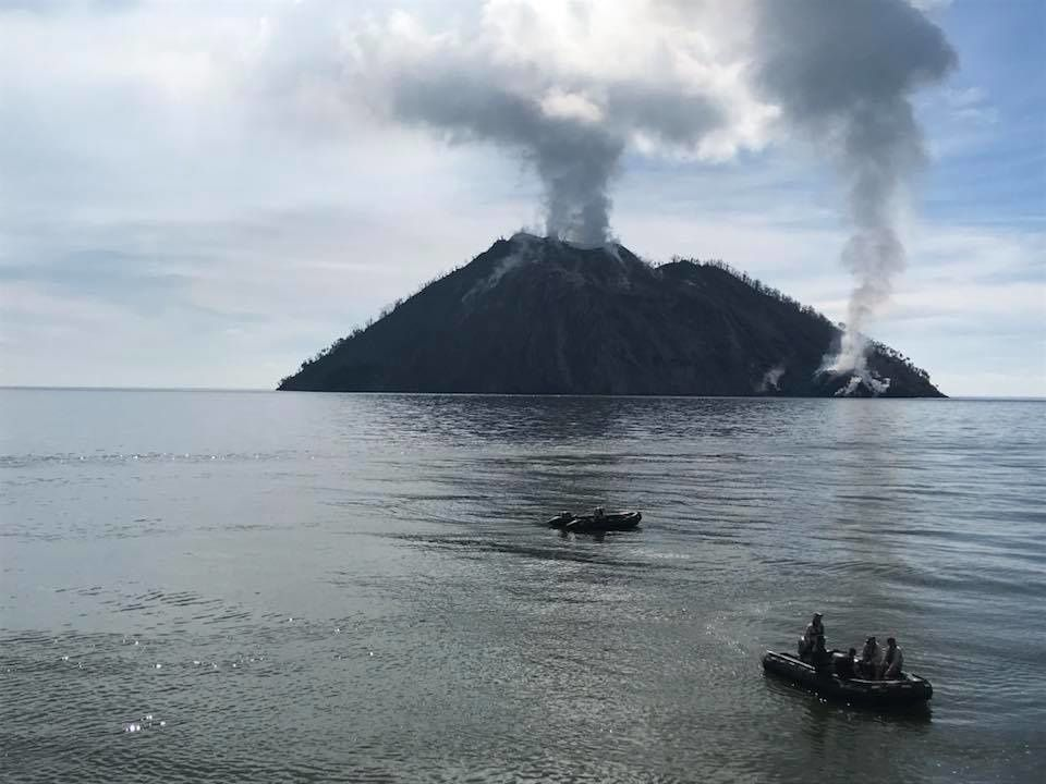 L'île-volcan Kadovar et son dôme costal - photo Tico Liu / Facebook / 19.05.2018 , via Shérine France