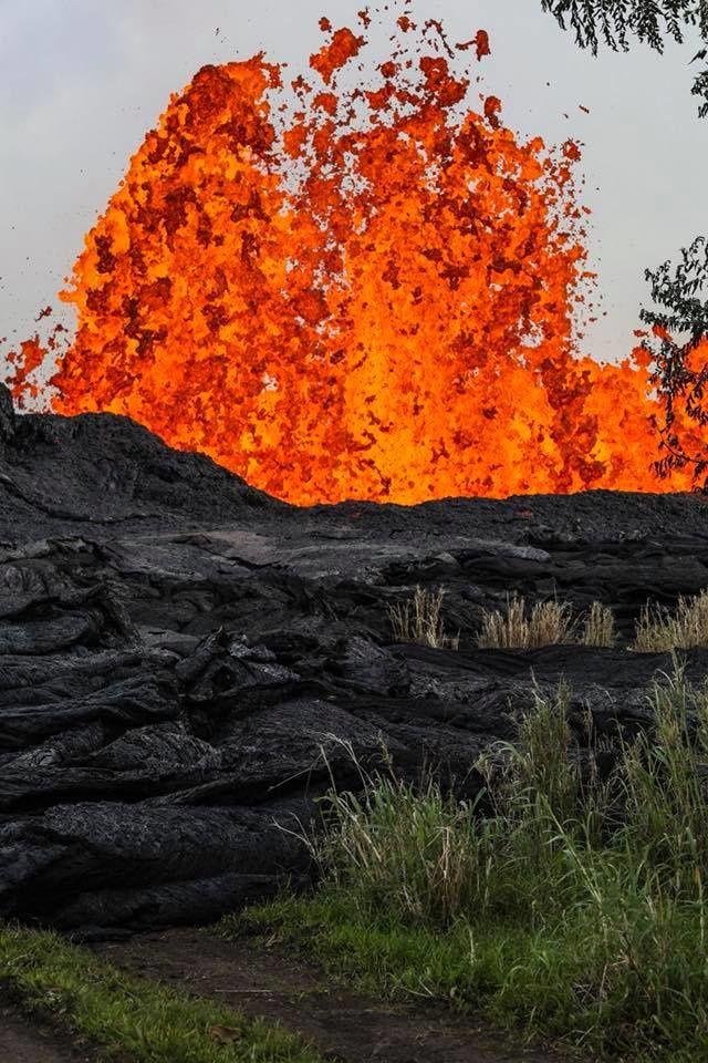 Kilauea zone de rift Est 21.05.2018 - Fontaine de lave - photo Epic Lava