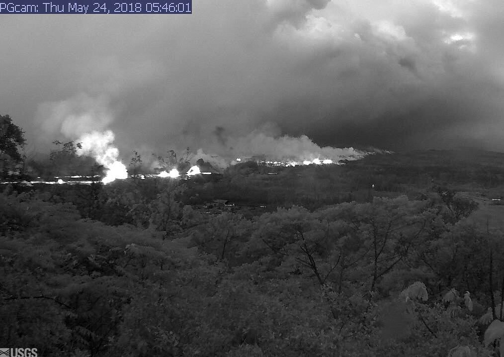 Kilauea East rift zone  the 24.05.2018 / 5:46 - USGS webcam