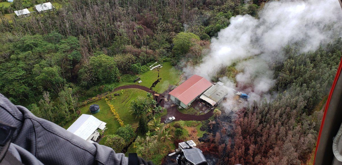 Kilauea East Rift Zone - Ground Defense Surveillance of the fractures by the Civil Defense