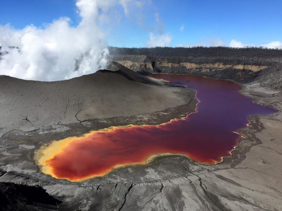 Ambae, volcano Manaro Voui - photos Dr.Philipson Bani, Volcanologist, posted on 29,05,2018