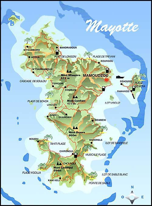 Map of the island of Mayotte.