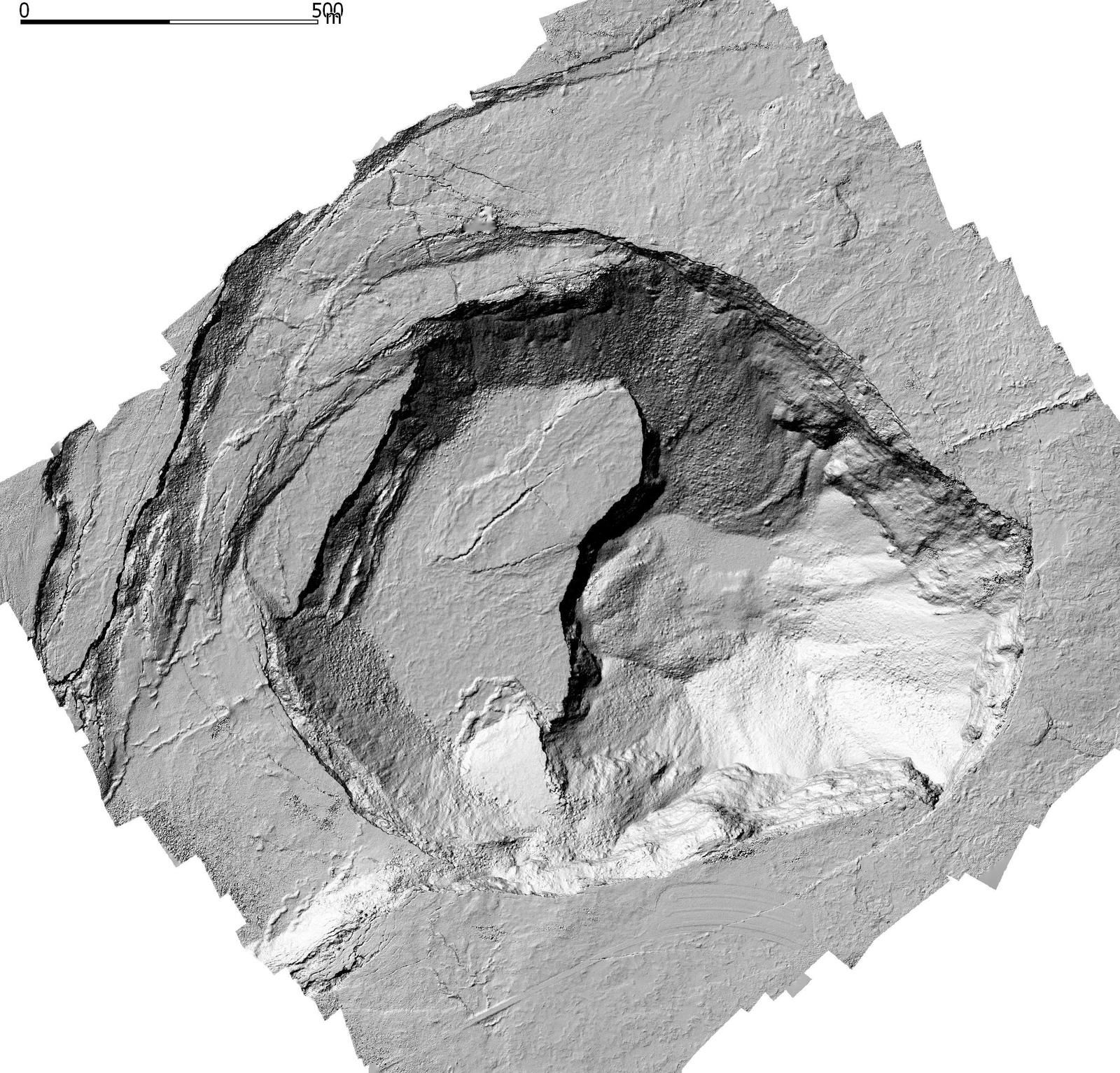 Kilauea - a photogrammetry of the summit on June 8th shows the new topography of Halema'uma'u - Doc. HVO