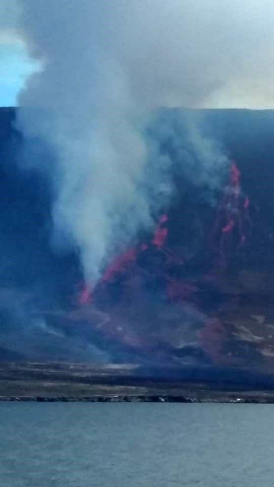 Fernandina - Lava flows on the flank NNE - photo 16.06.2018 John Garate and Eduardo Alba via Prof.Dr. Th.Toulkeridis 2