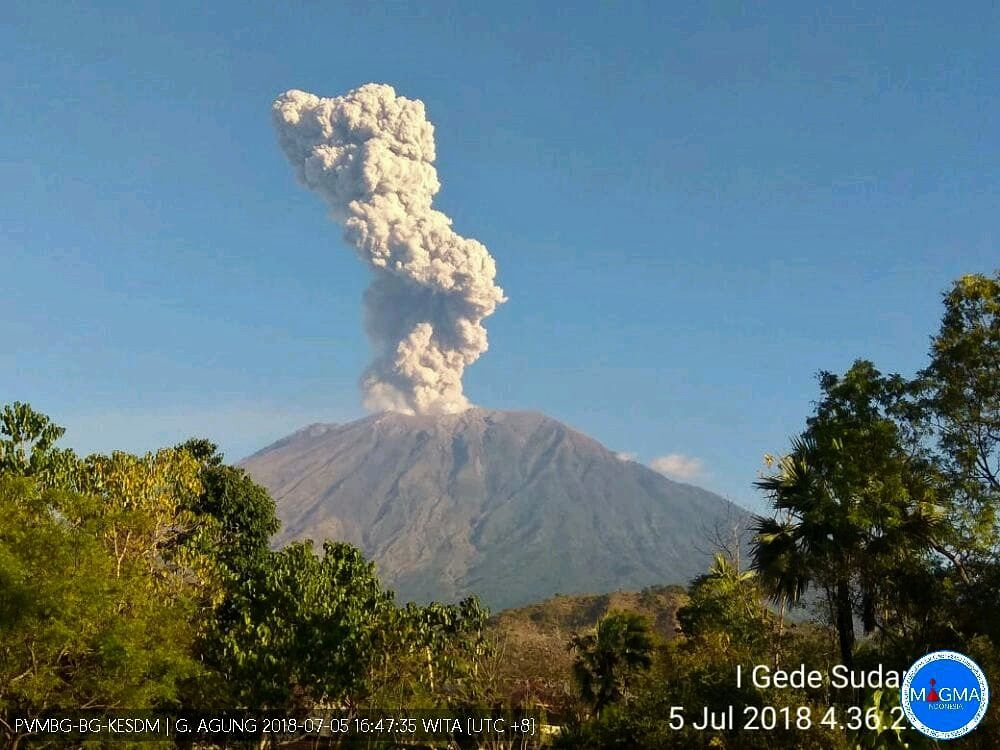 Agung - 05.07.2018 / 16h47 loc. - Photo Magma Indonesia