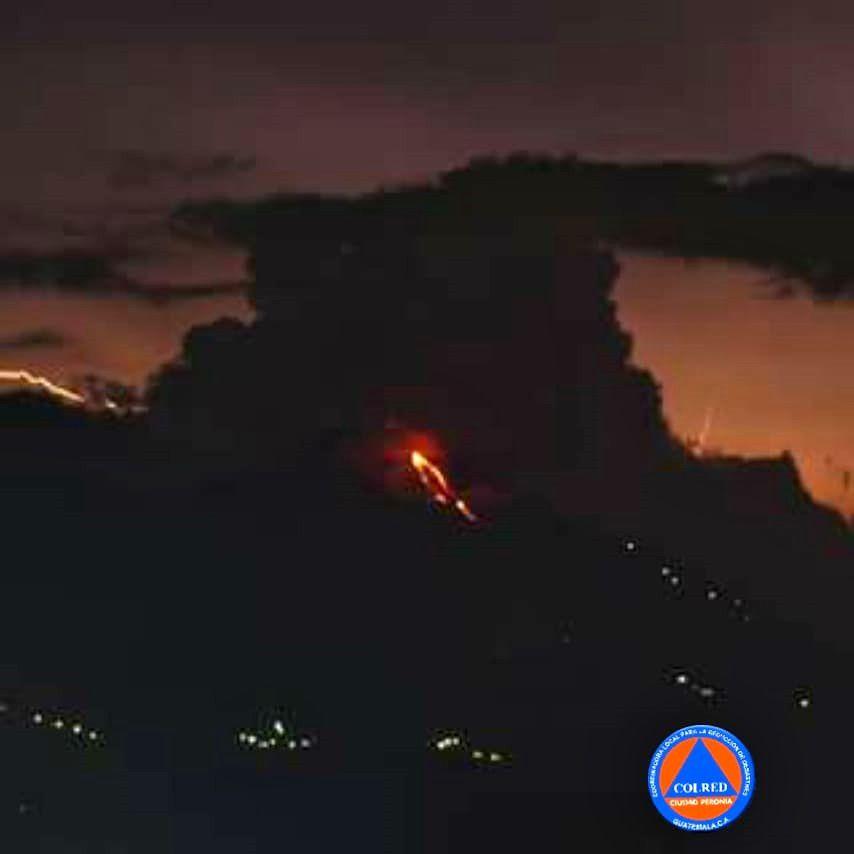Pacaya - 07.07.2018 - lava flow - photo Conred