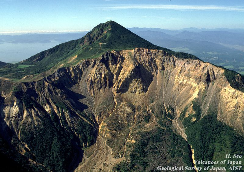 Bandaisan - the caldera left by the summit explosion during the 1888 eruption - Doc.H.Seo / Geological Survey of Japan / AIST