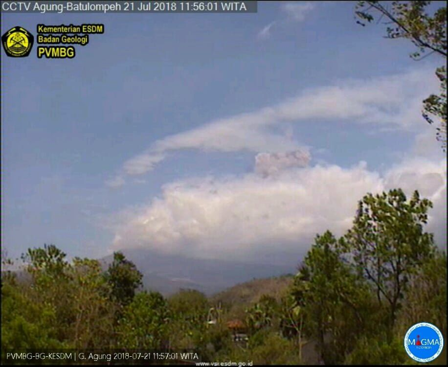 Agung - 21.07.2018 / 11h56 WITA - photo PVMBG