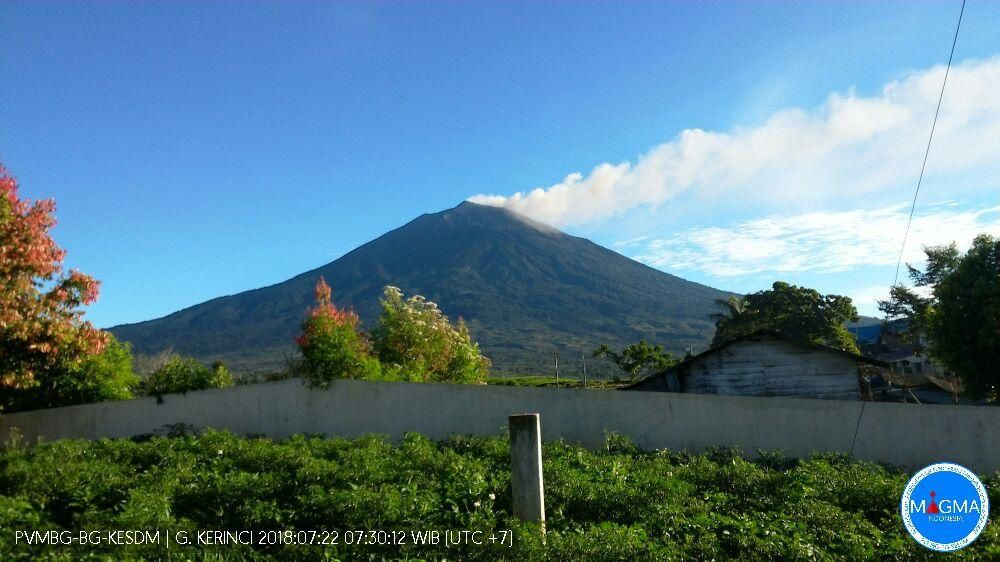 Kerinci - 22.07.2018 / 07:30 local - photo Magma Indonesia / PVMBG