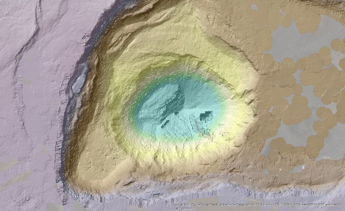 Digital elevation models of the Halama'uma'u summit crater, between 2009 (before the current episode) and early July 2018. - Photo Credits: Before NSF, NCALM - After USGS, NCALM, CRREL, State of Hawaii , FEMA