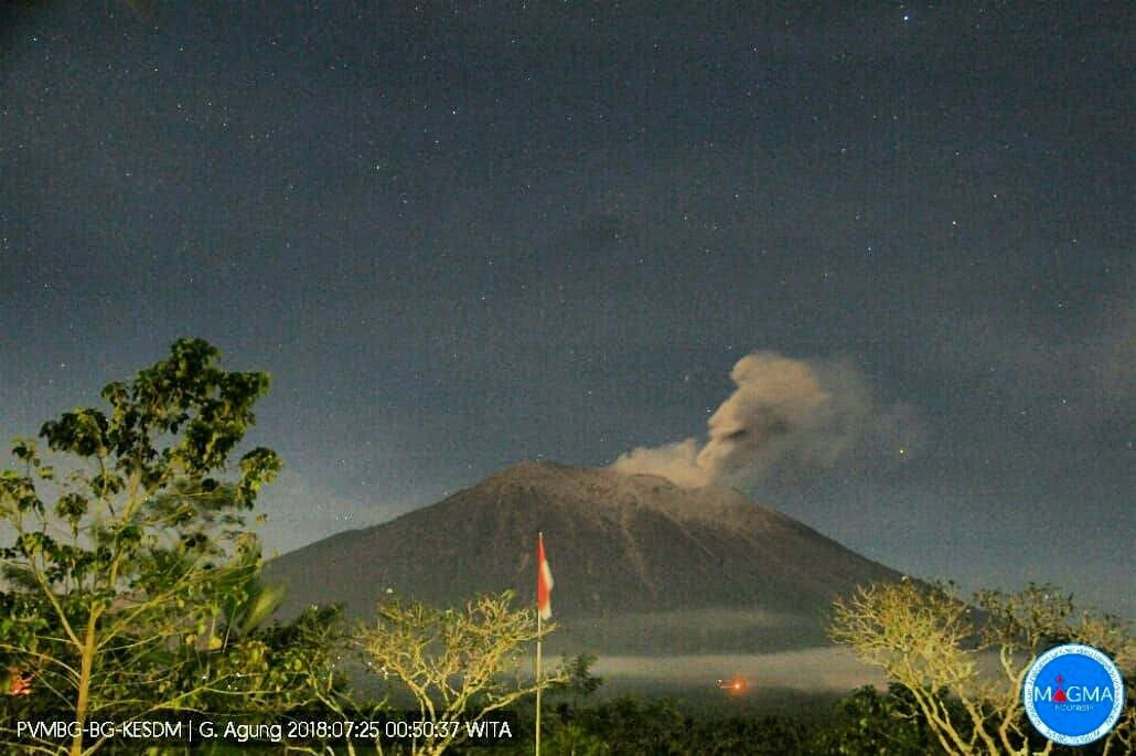 Agung - 25.07.2018 / 0h50 - photo PVMBG