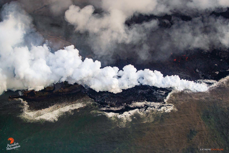 Kilauea East Rift Zone - The lava covered the surf spot at Shacks - photo Bruce Omori 24.07.2018 / 6h