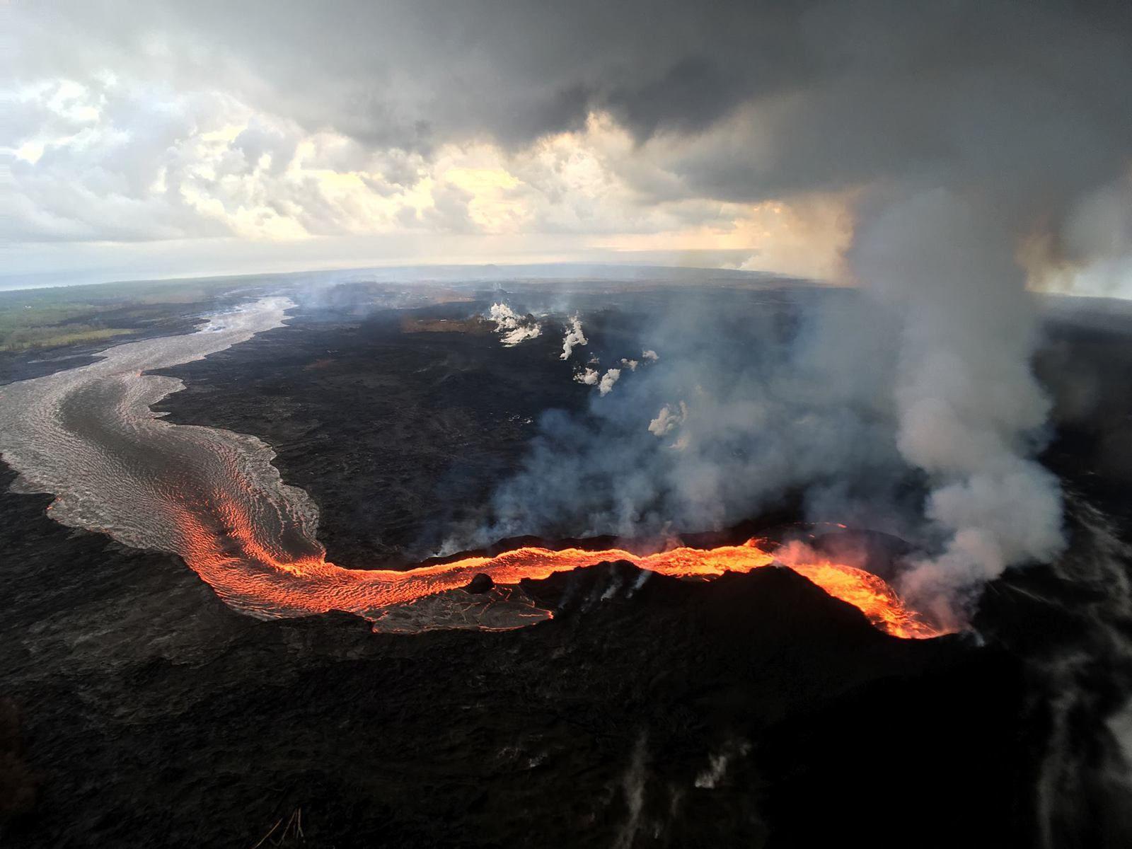 Kilauea zone de rift Est - les émissions de dioxyde de soufre restent importante sur la fissure 8 - photo Dand Dupont via Hawaii Tracker
