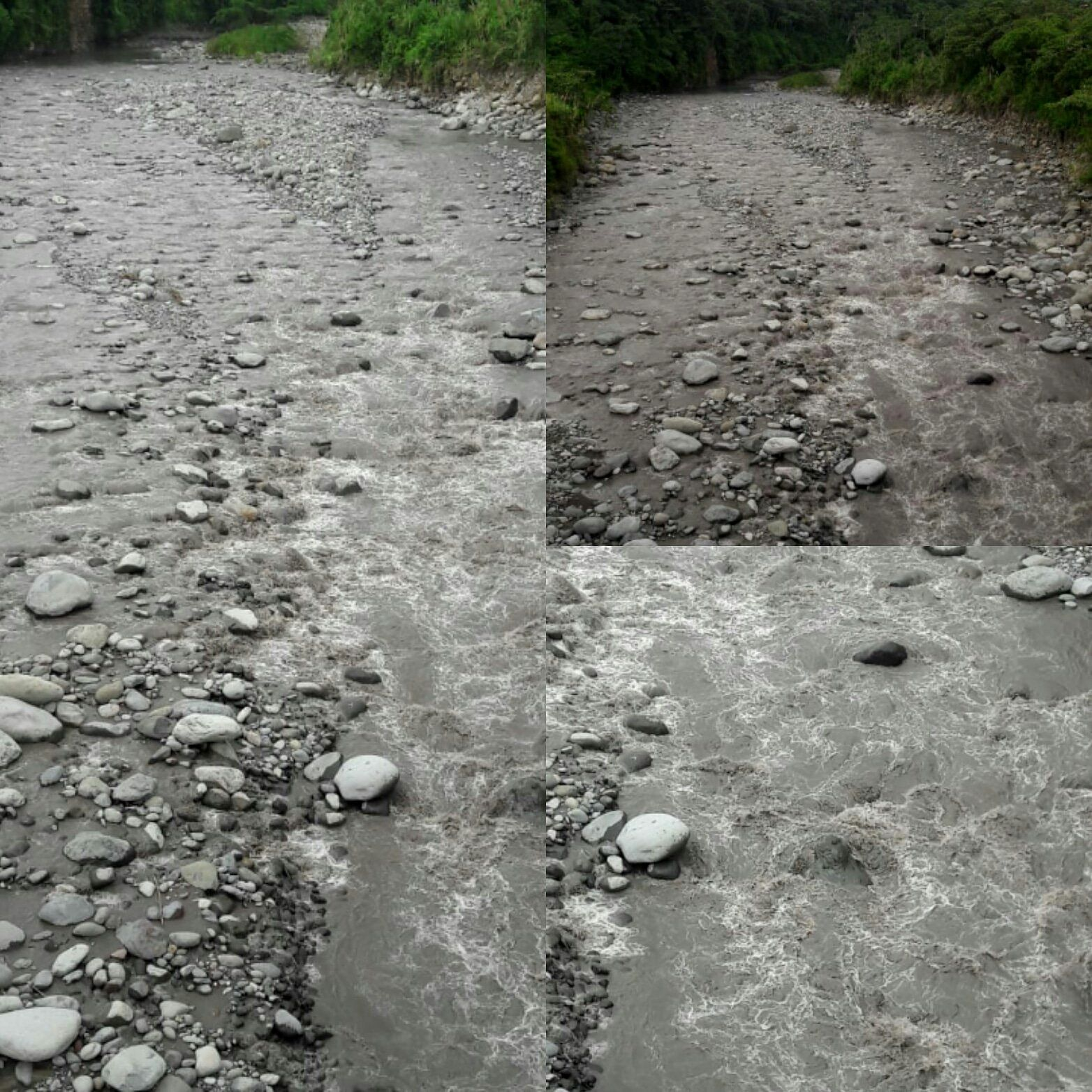 Rio Toro Amarillo / Turrialba - Un changement de coloration, et le dégagement d'une forte odeur de soufre sont rapportés le 01.08.2018 - photo VSF