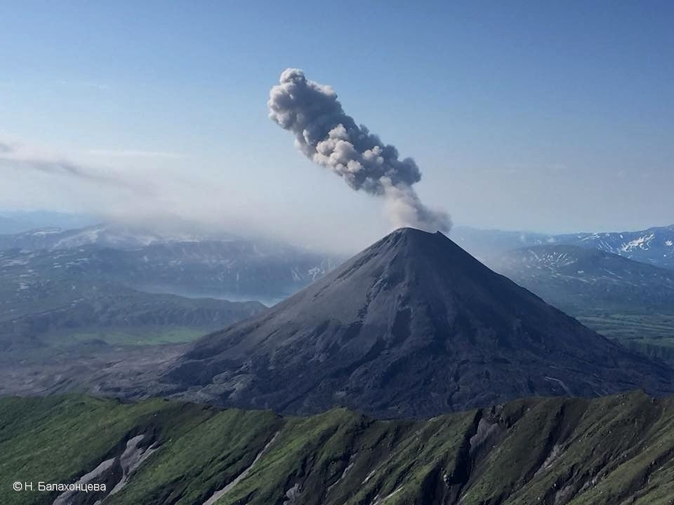 Karymsky -  28.07.2018 - photo  N. Balakhontseva / ©Institute of Volcanology and Seismology FEB RAS