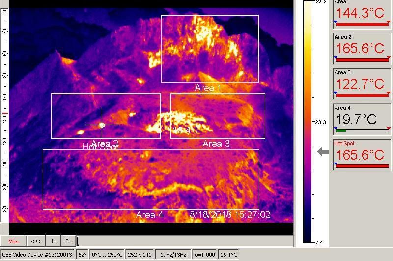 Merapi - thermal image of the summit on 18.08.2018 / 15h27 - Doc.PVMBG
