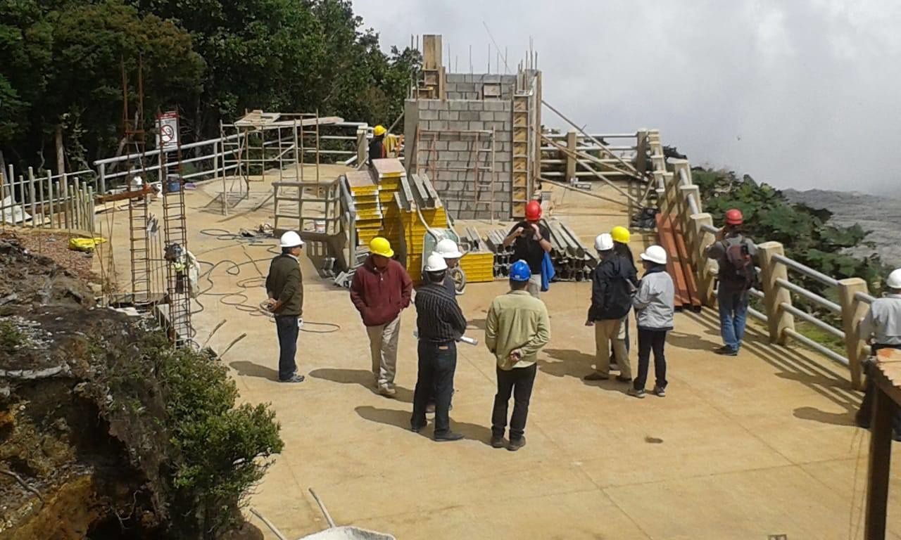Poas - end of work on observation platform in early August - photo RSN