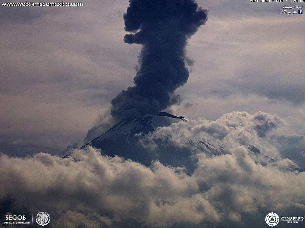 Popocatépetl - 04.09.2018 / 17h25 - WebcamdeMexico