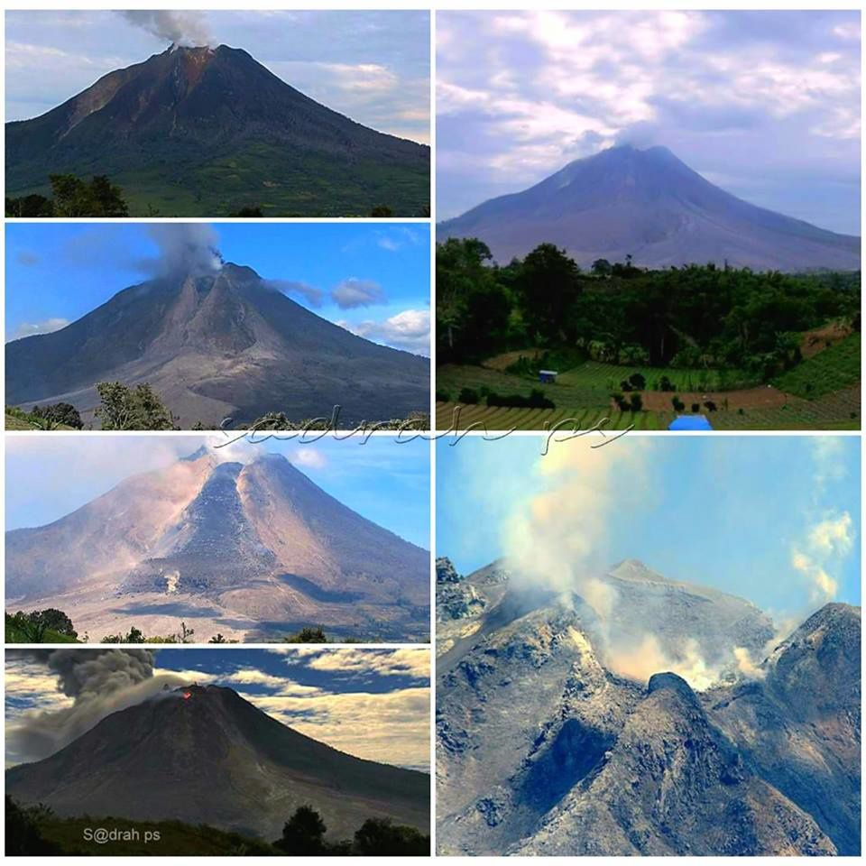 Sinabung - Evolution 2013 to 2018. - photos Sadrah Peranginangin / doc.2019.09