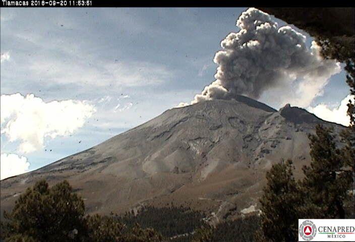 Popocatépetl - 20.09.2018 / 11h53 - Webcam Cenapred Tlamacas