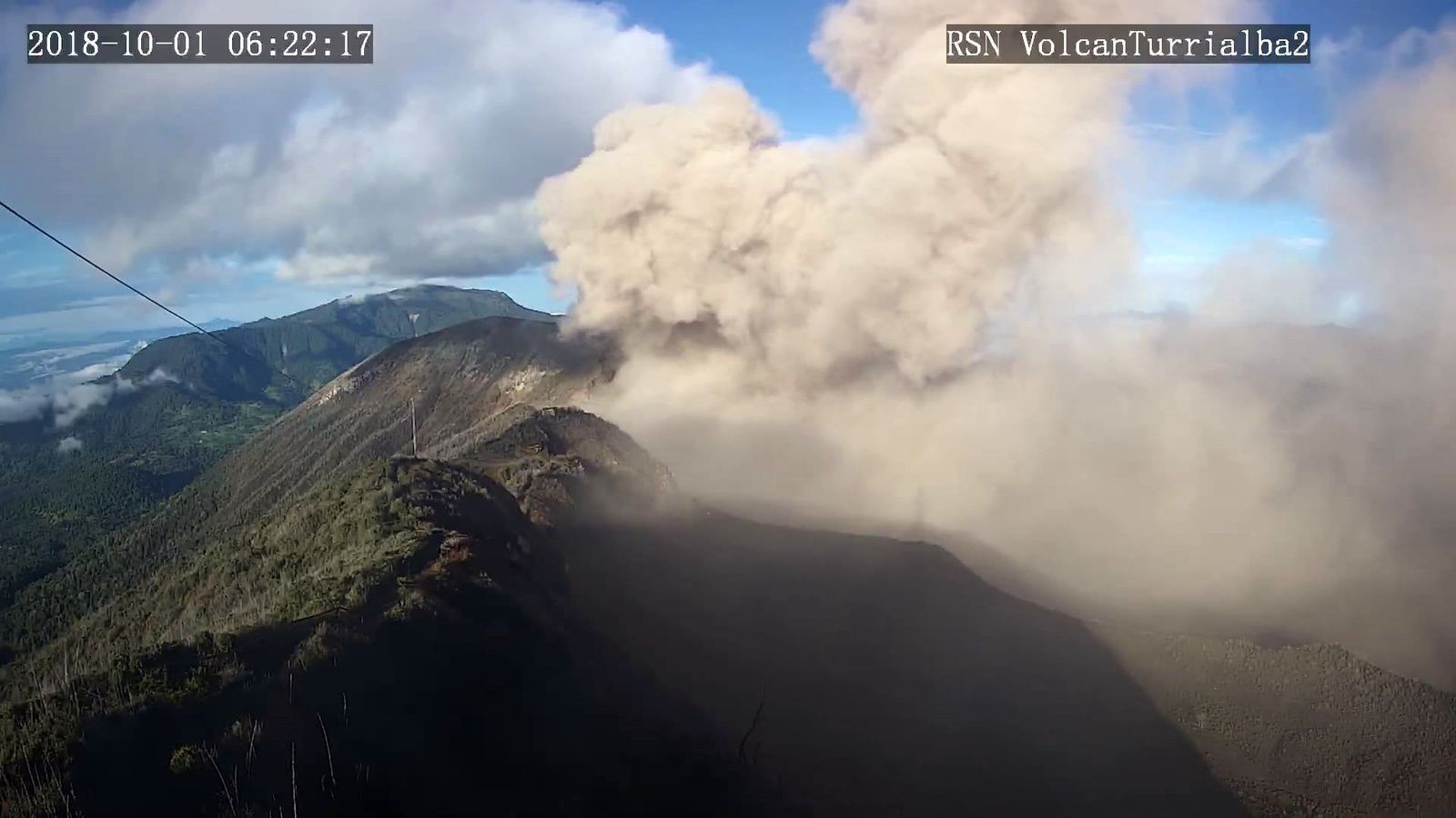 Turrialba - 01.10.2018 / 6h22 - RSN webcam