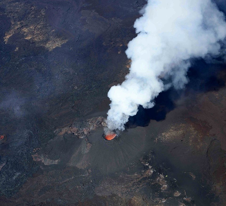 Piton de La Fournaise - 02.10.2018 / 10h30 - the eruptive site - photo OVPF