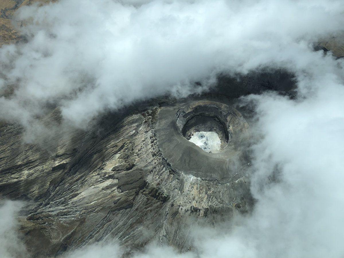 Ol Doinyo Lengai - the only black lava volcano in the world - photo 10.2018 Cin-Ty Lee / Tw itter