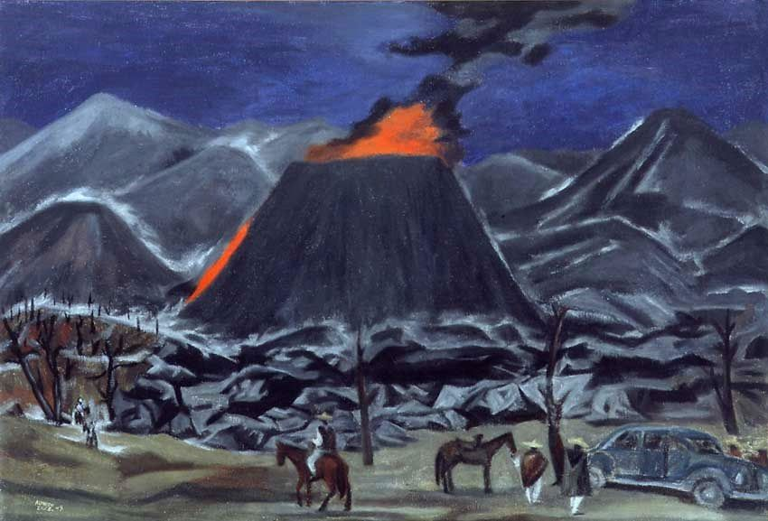 Paricutín, 1949 - Oil On Canvas by Alfredo Zalce - 54 of 79 cm