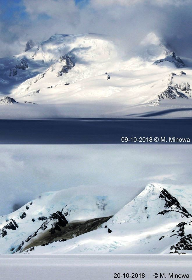 Cordón Mariano Moreno - photos 09.10 and 20.10.2018 by M.Minowa during the scientific expedition. / via Ahora Calafate.