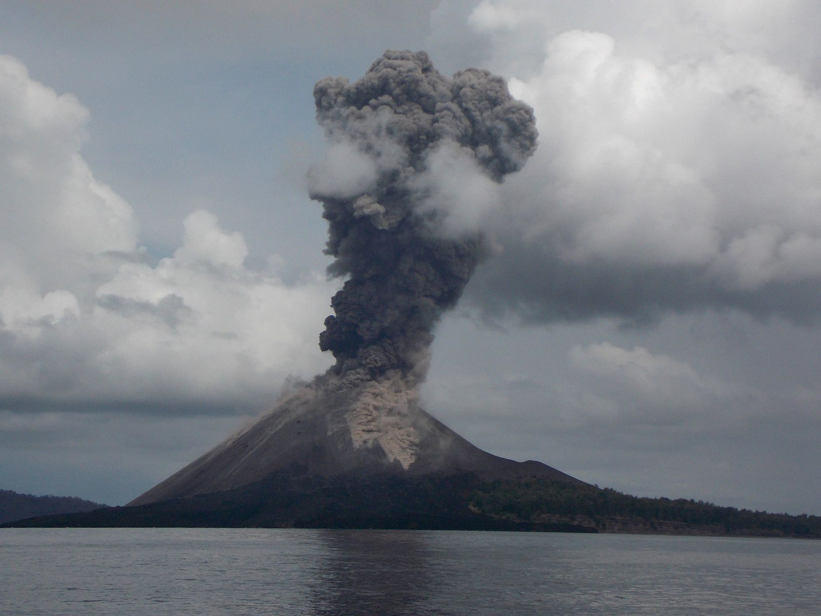 The Anak Krakatau seen from Rakata - picture Dan Quinn 10.11.2018