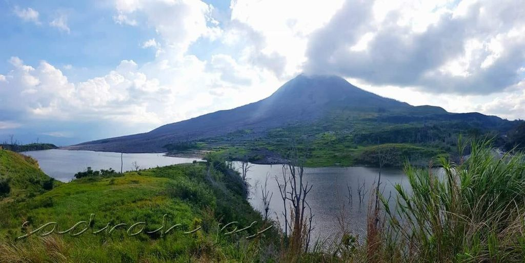 The Sinabung and the reservoir on the Lauborus River - photo 17.11.2018 Sadrah Peranginangin