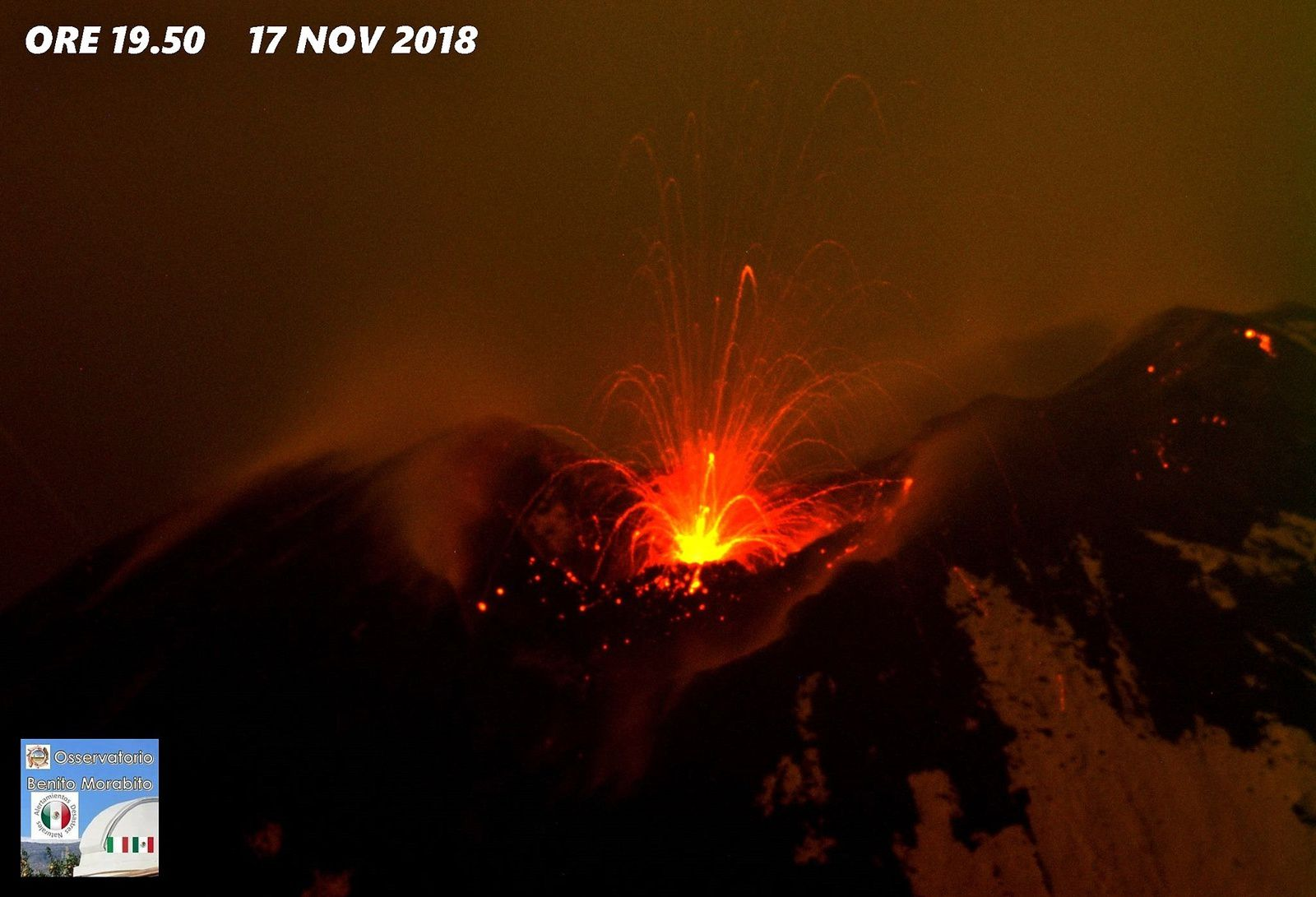 Etna - 17.11.2018 / 19h50 - photo Benito Morabito