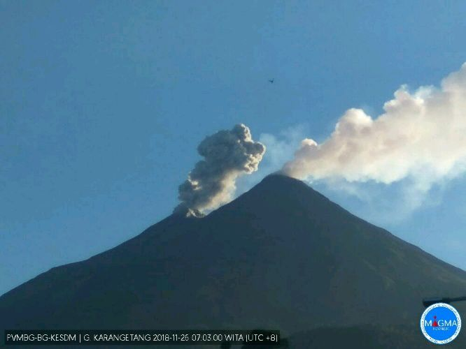 Karangetang - 26.11.2018 / 7h30 WITA - photo Magma Indonesia