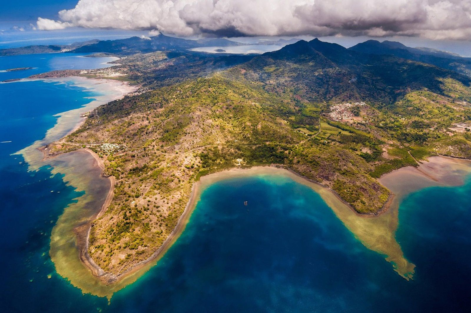 Aerial view of the southern part of Mayotte. - Alamy Stock photo via Nat Geographic