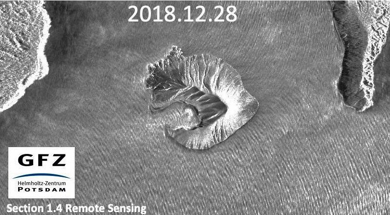 Evolution of Anak Krakatau on 28.12.2018 - Doc. GFZ Postdam via Daryono BMKG
