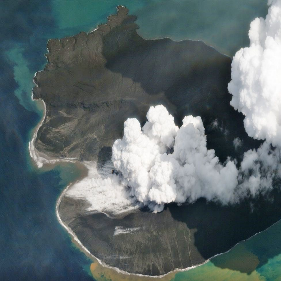 Anak Krakatau - 02.01.2019 - photo Planet Labs Inc. via BBC