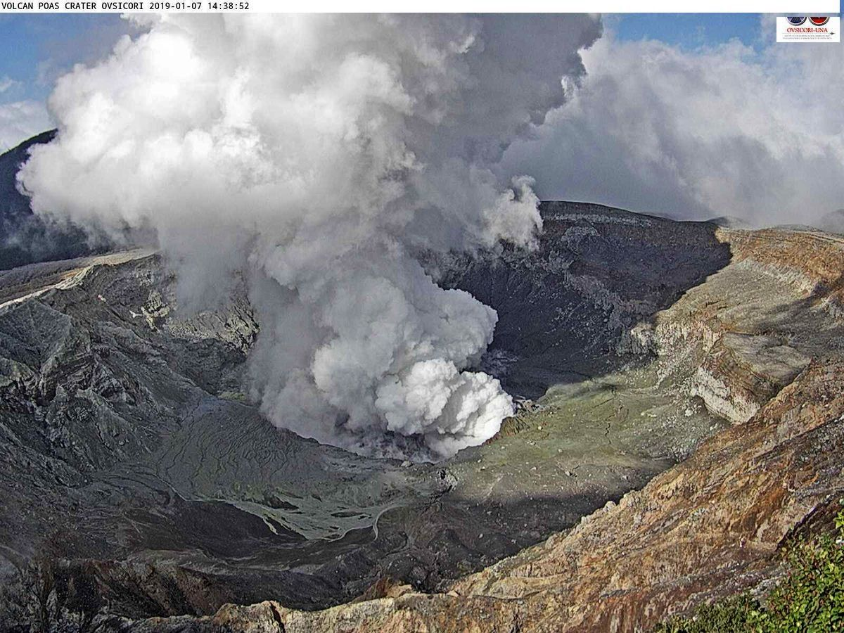 Poas - phreatic eruption from 07.01.2019 / 14h38 - Ovsicori photos