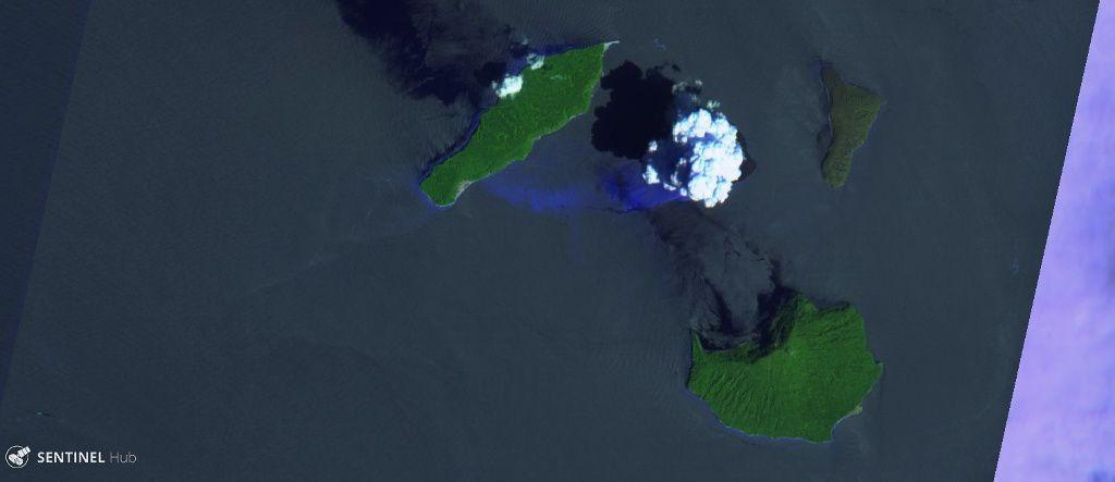 Anak Krakatau - image Sentinel 2 bands 12,11,4 du 08.01.2019