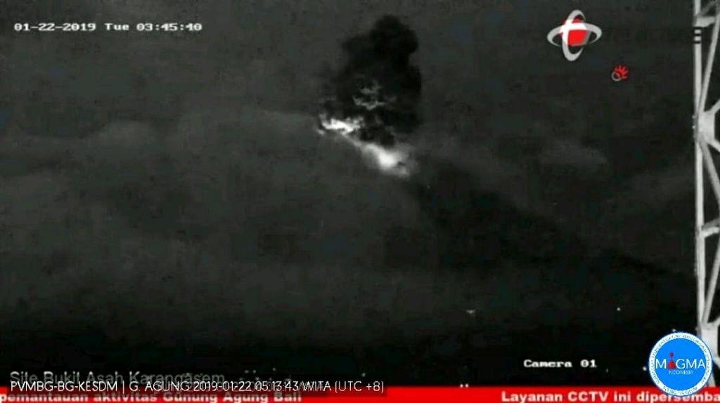 Agung - 22.01.2019 / 03:45 - video image CCTV / Magma Indonesia