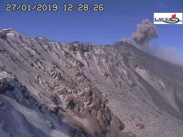 Etna - 27.01.2019 / 12h28 - webcam LAVE