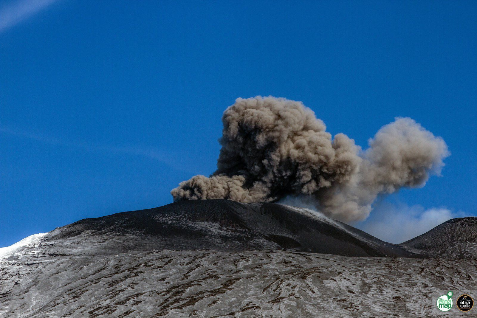 Etna - ash emissions by the Bocca Nuova on 27.01.2019 - Marco Restivo / EtnaWalk photos